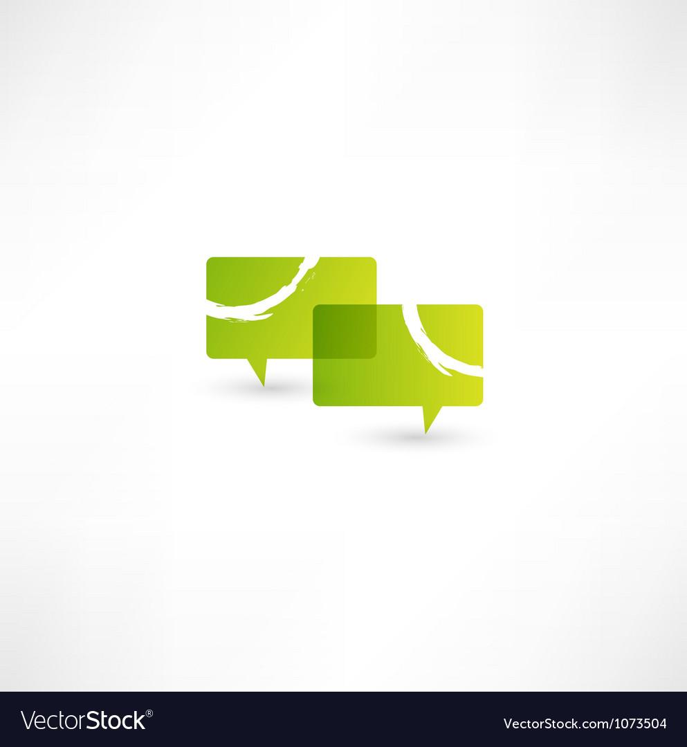 Talk concept speech bubbles icon vector image