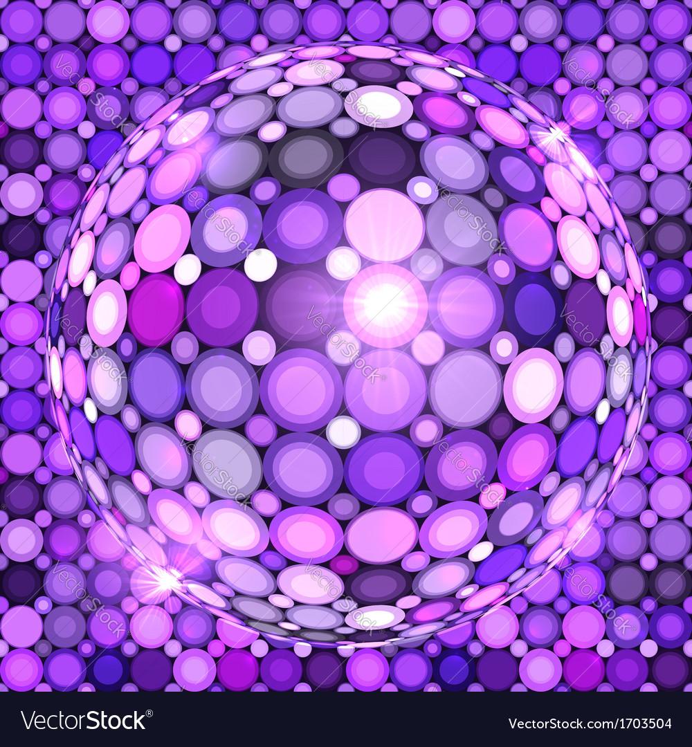 Violet shining disco ball