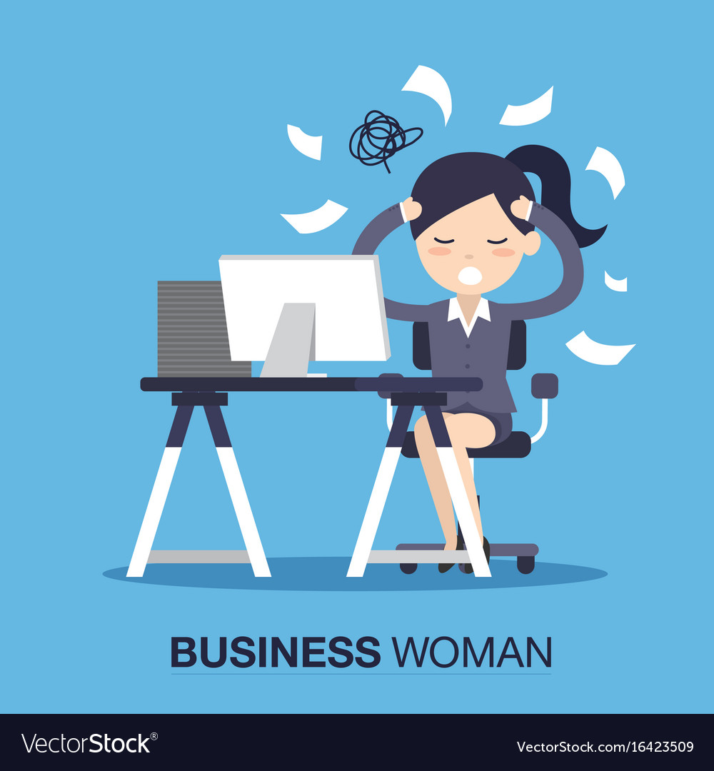 Busy time businesswoman