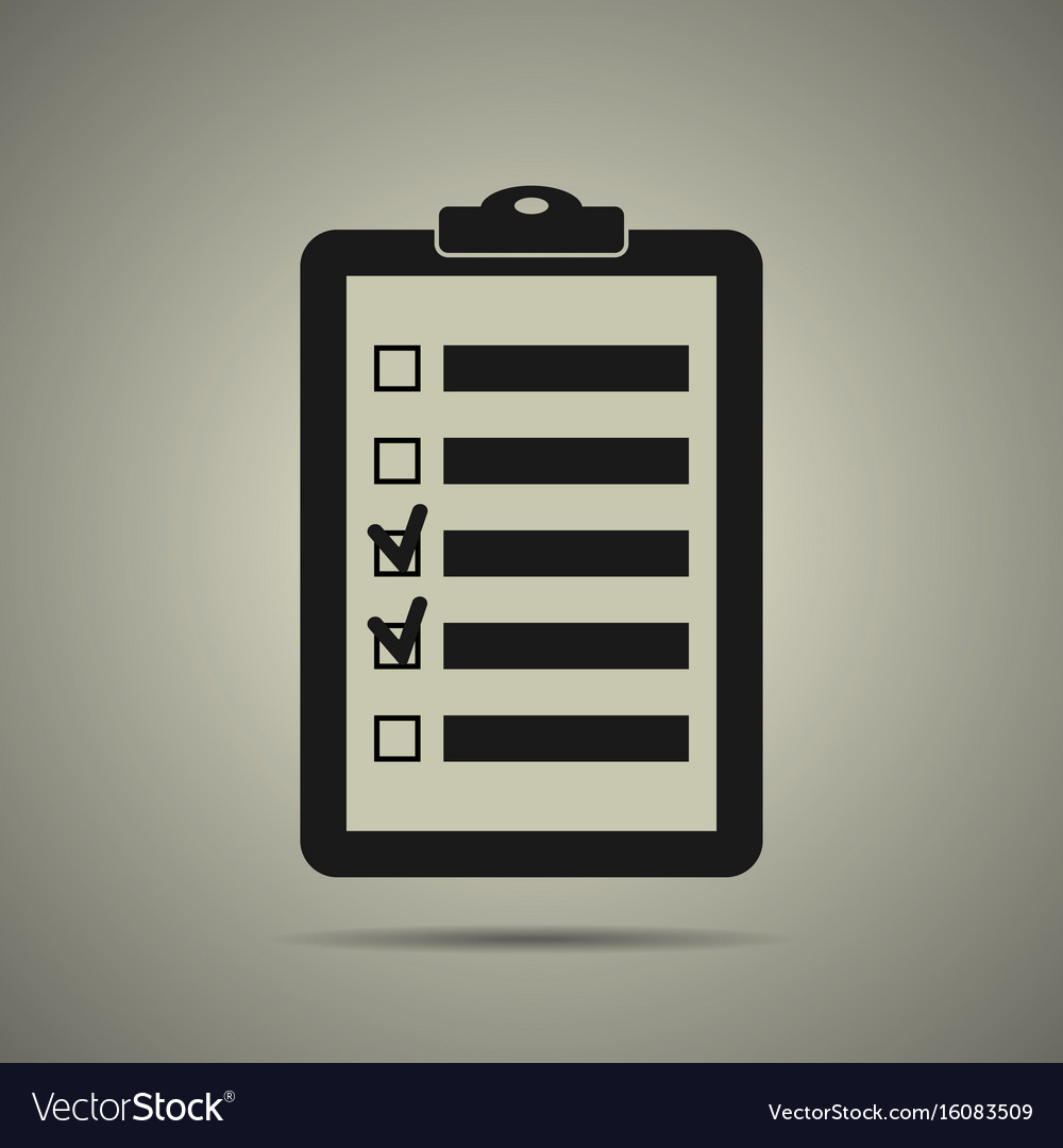 Checklist icon in black and white style