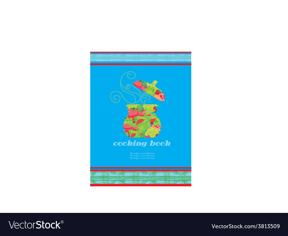 Cooking book cover vector image