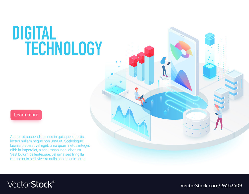 Digital and internet technology landing page