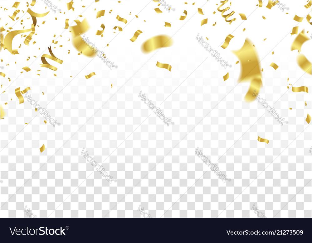 Festive design gold border of colorful bright vector image