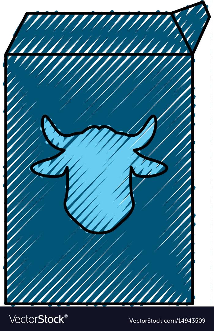Milk carton cow