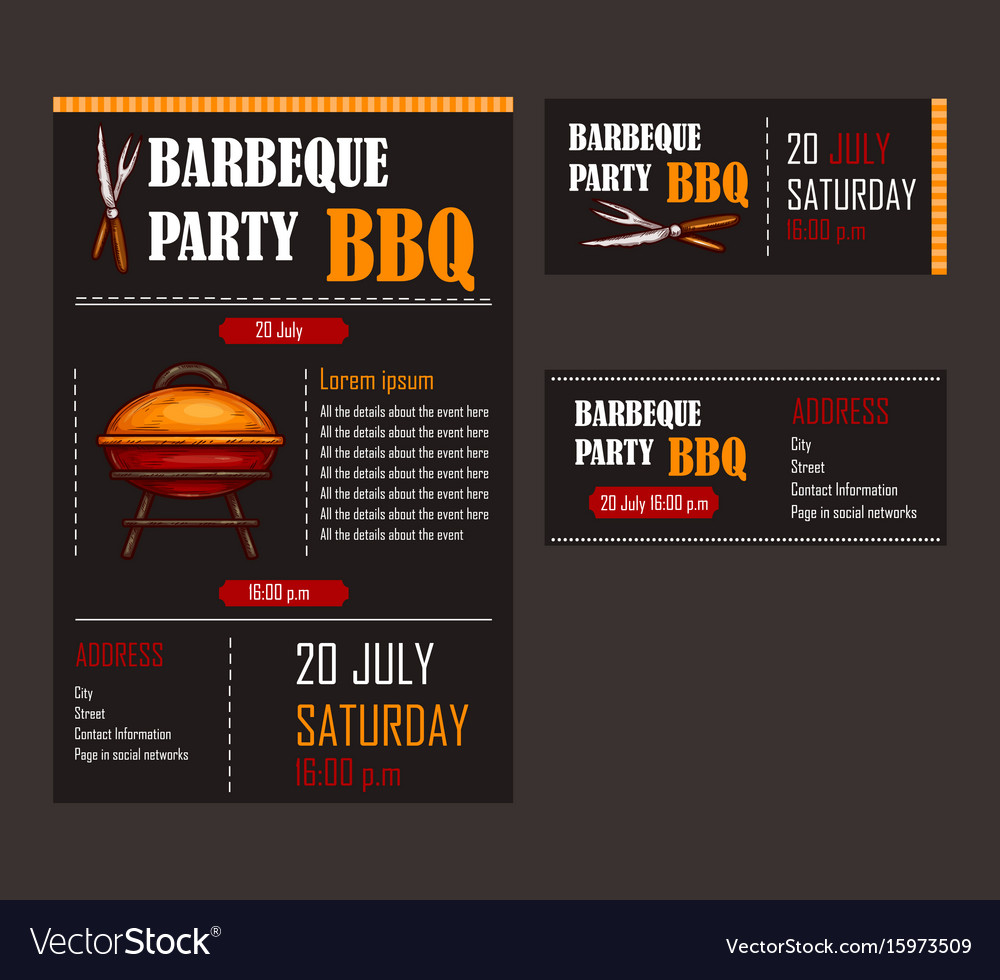 set of of a bbq menu template royalty free vector image