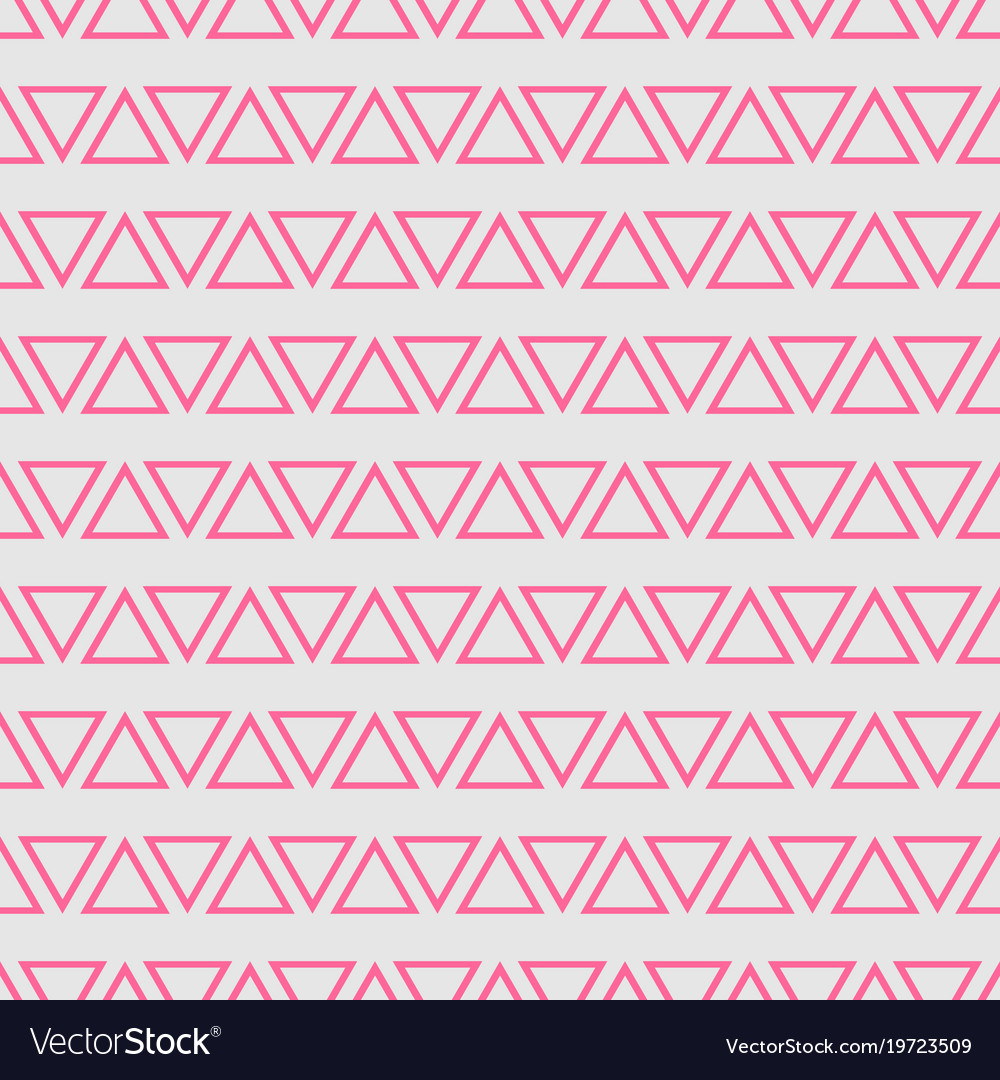 Tile pattern with pink triangles on grey