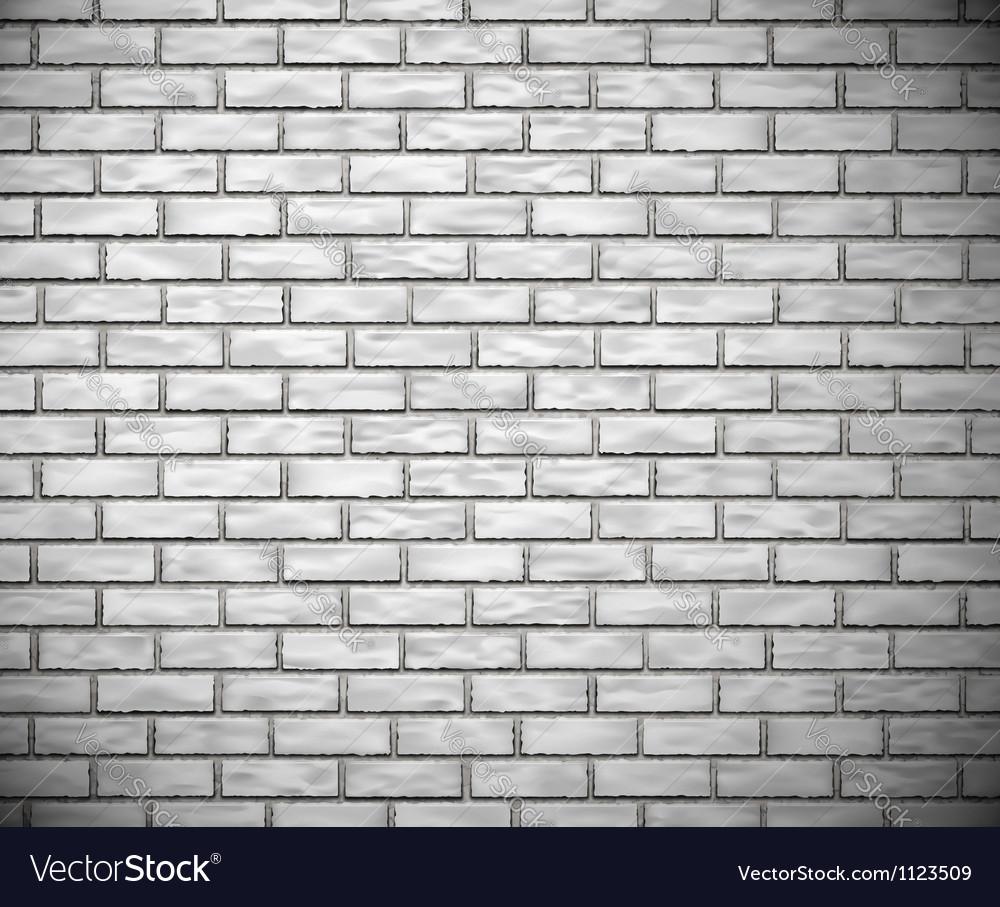 White brick wall vector image