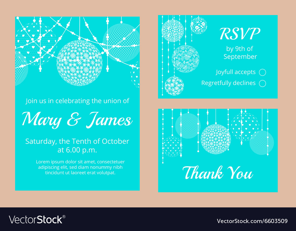 White lace baubles vector