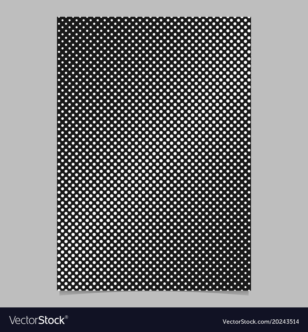 Abstract halftone dot background pattern page vector image