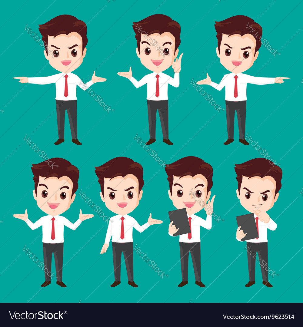 Businessman character actions
