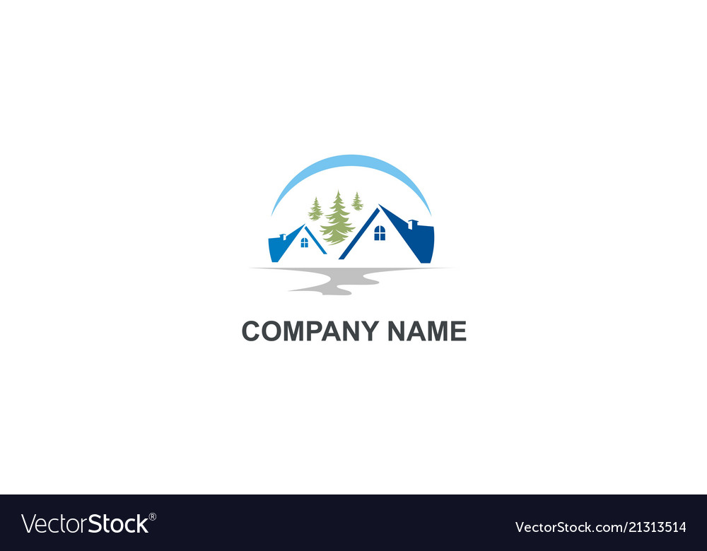House villa mountain company logo