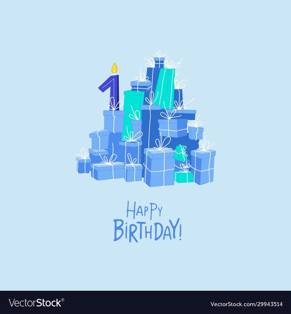 Mountain birthday presents birthday card