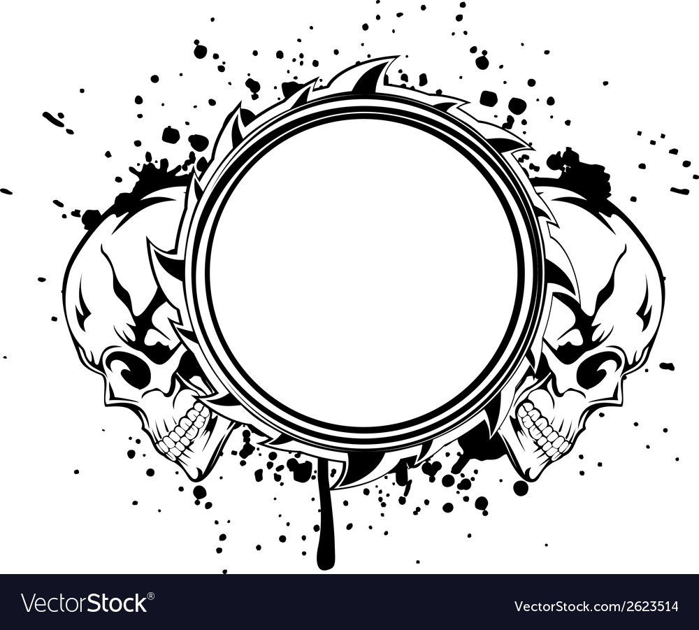 Skulls frame Royalty Free Vector Image - VectorStock