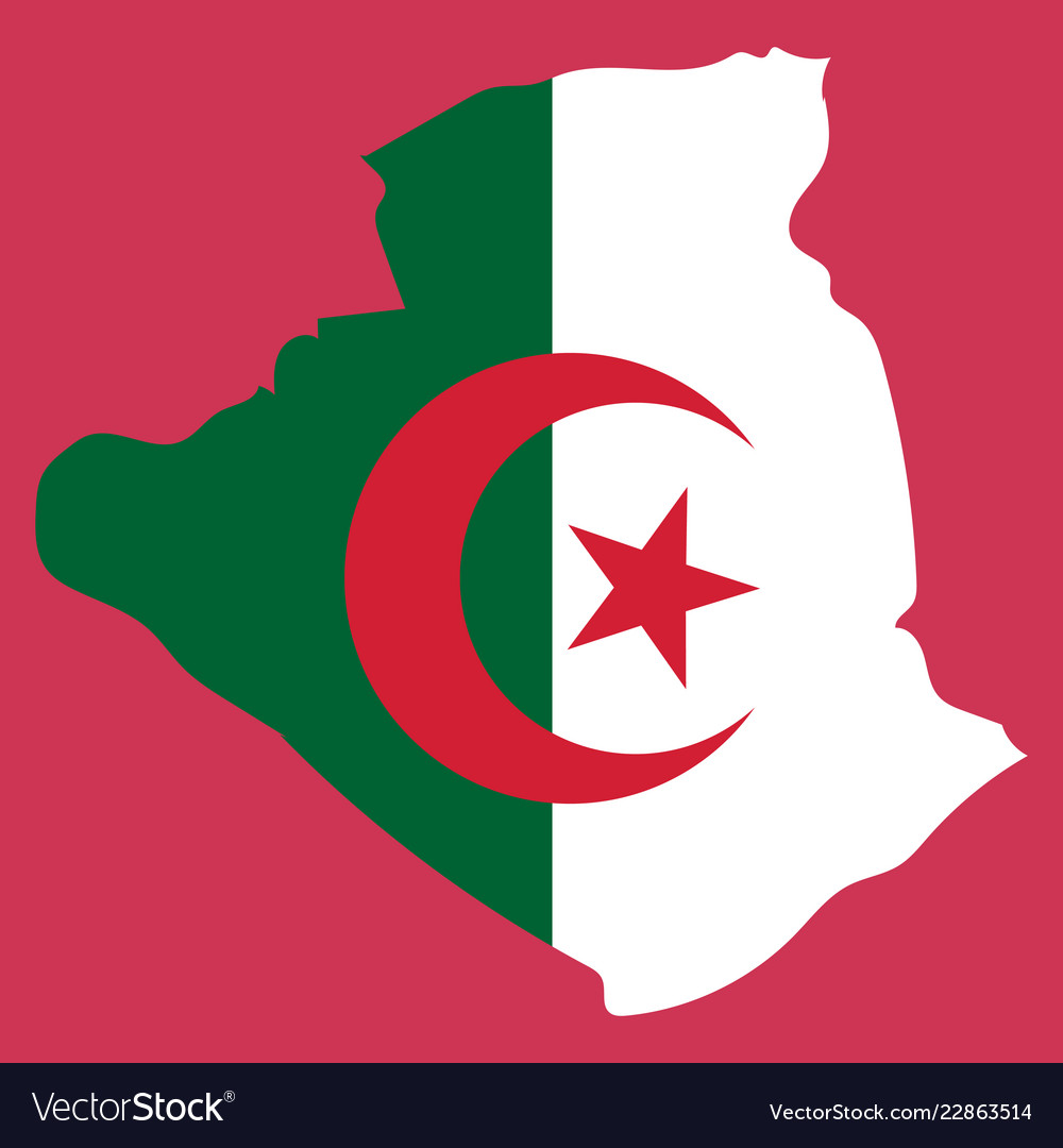 Stylized algeria map showing big cities capital Vector Image on