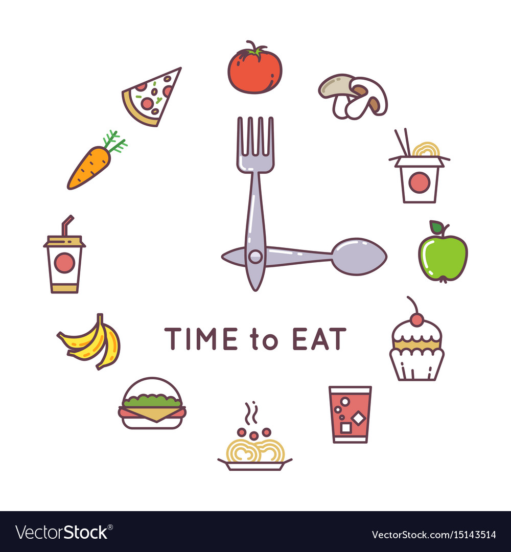 Weight loss diet concept with clock and