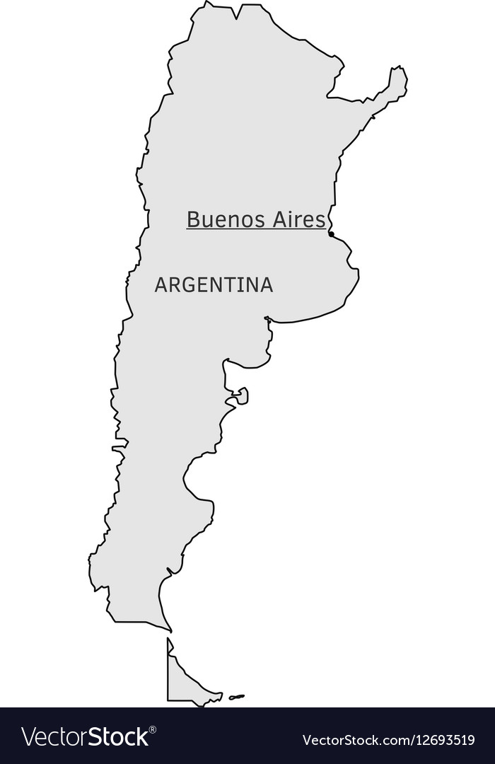 Buenos Aires Argentina Map Argentina silhouette map with Buenos Aires capital Buenos Aires Argentina Map