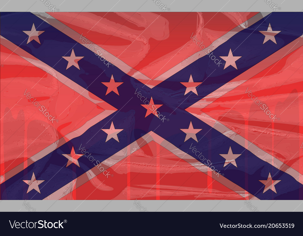 Blood soaked confederate flag