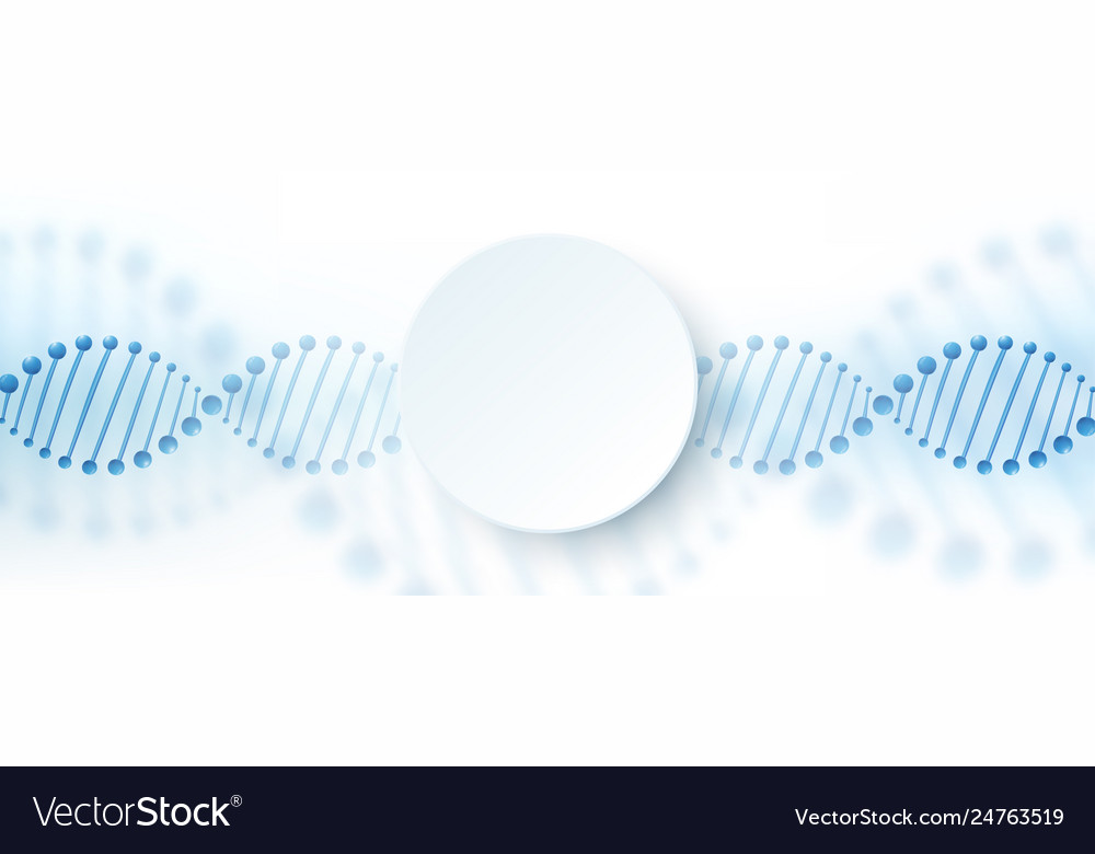 Dna chromosome banner concept science technology