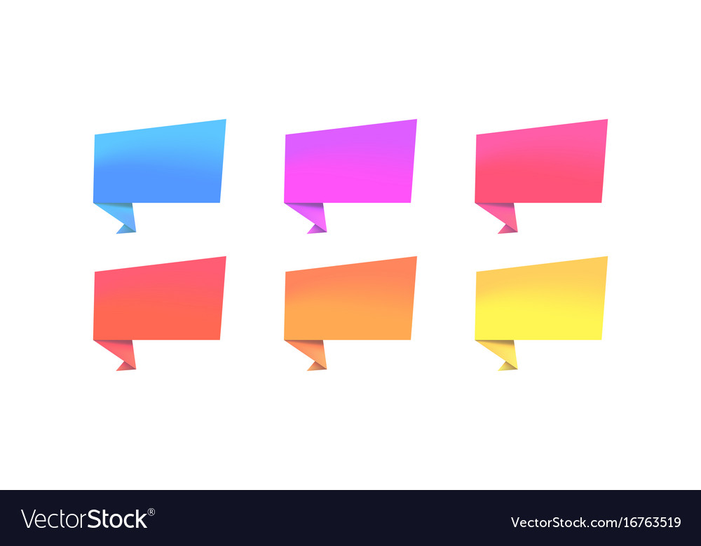 Set of color banners