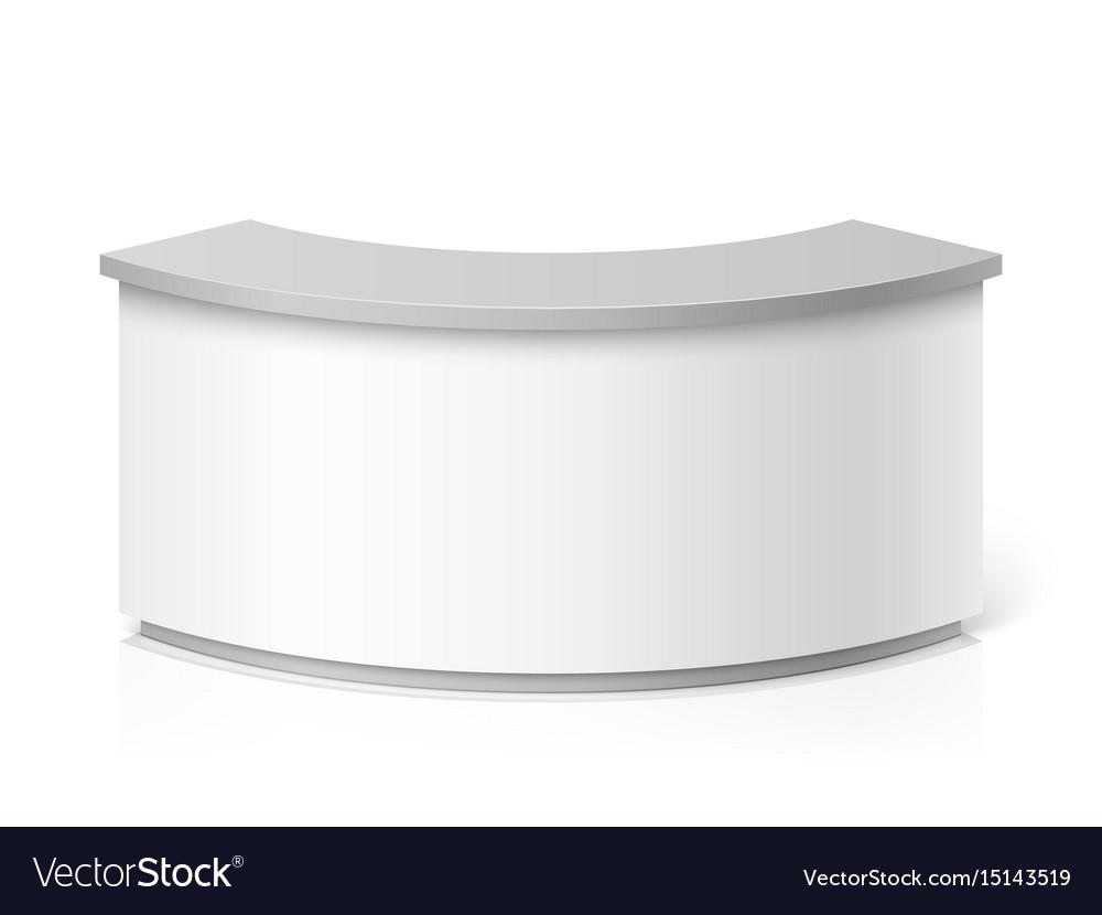 White blank modern reception round information