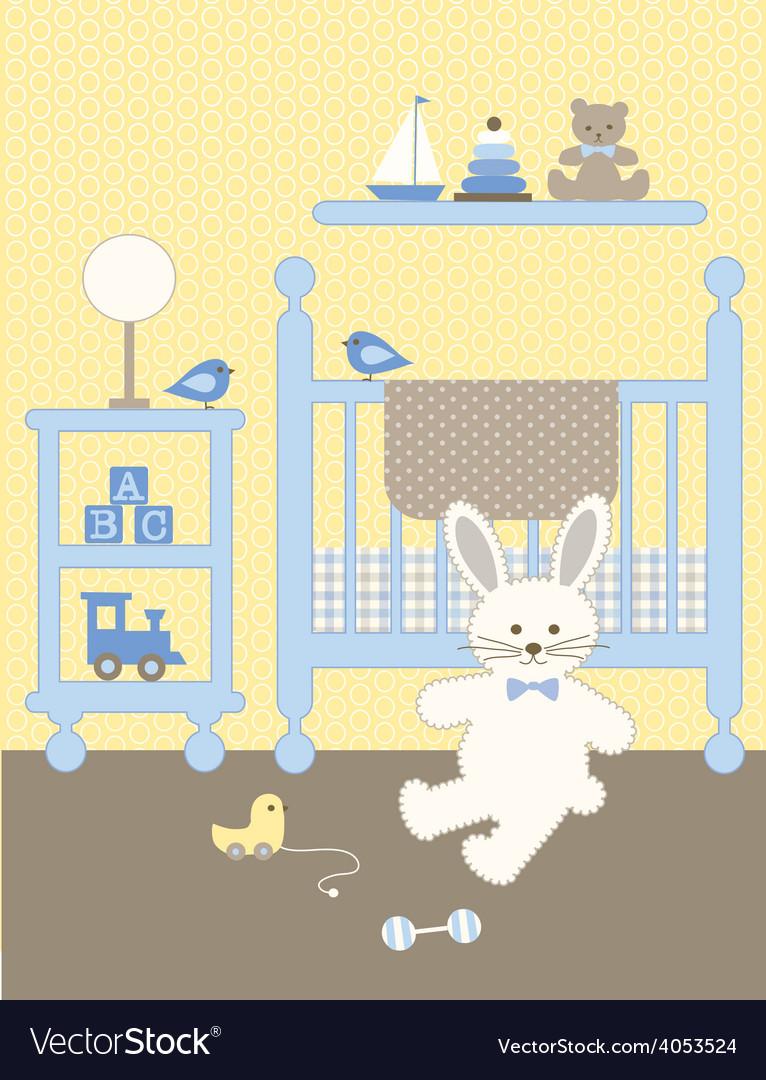 Bunny nursery vector image