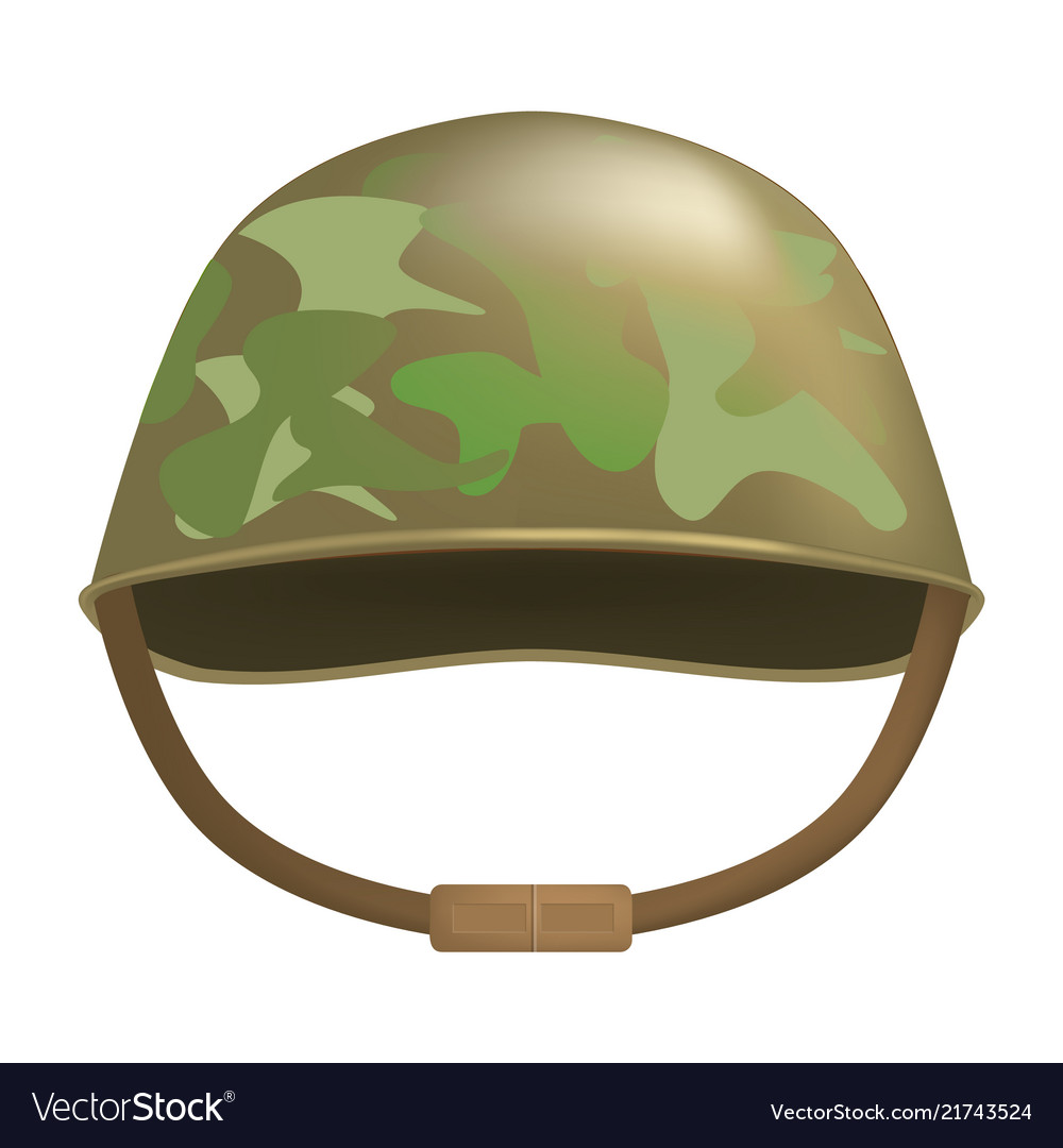 a17eabfcab6bb8 Camouflage helmet mockup realistic style Vector Image