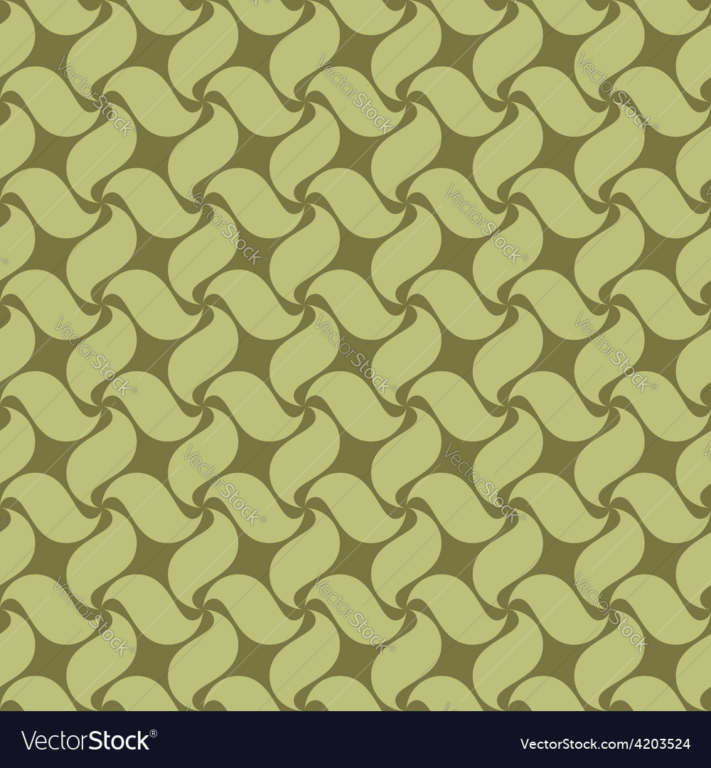 Green seamless pattern swirl leaves