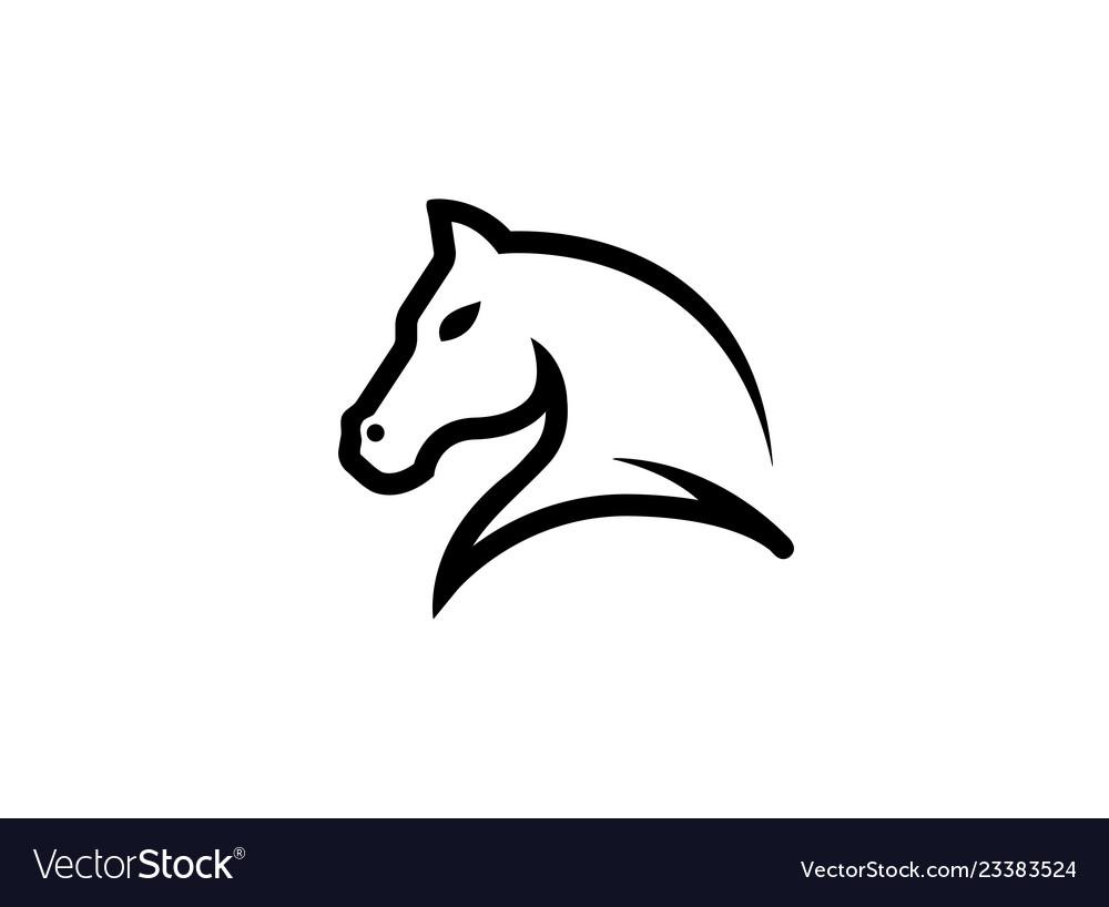 Horse head symbol for logo