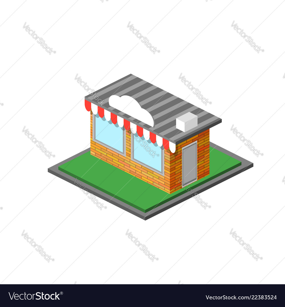 Isometric shop stope icon