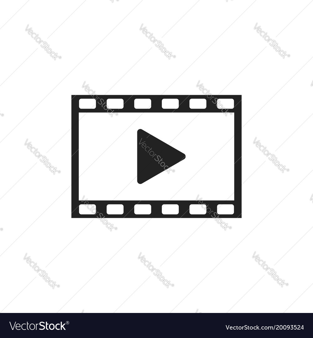 Play icon play video in flat style