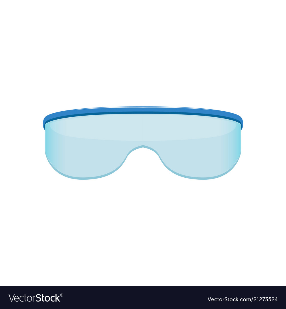 Shield style sunglasses with blue tinted lenses
