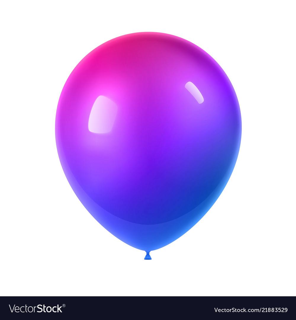 3d realistic colorful balloon birthday balloon