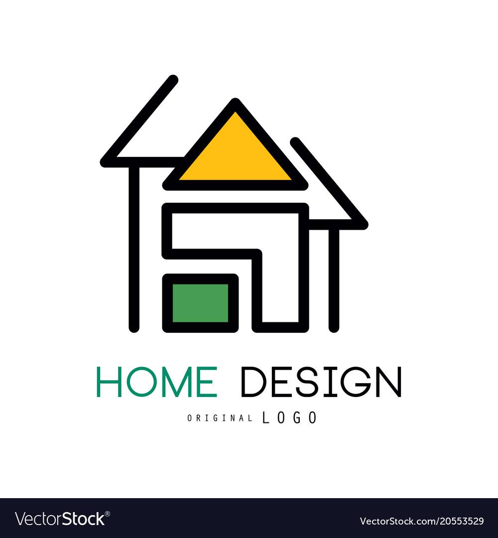 Abstract house for logo design original