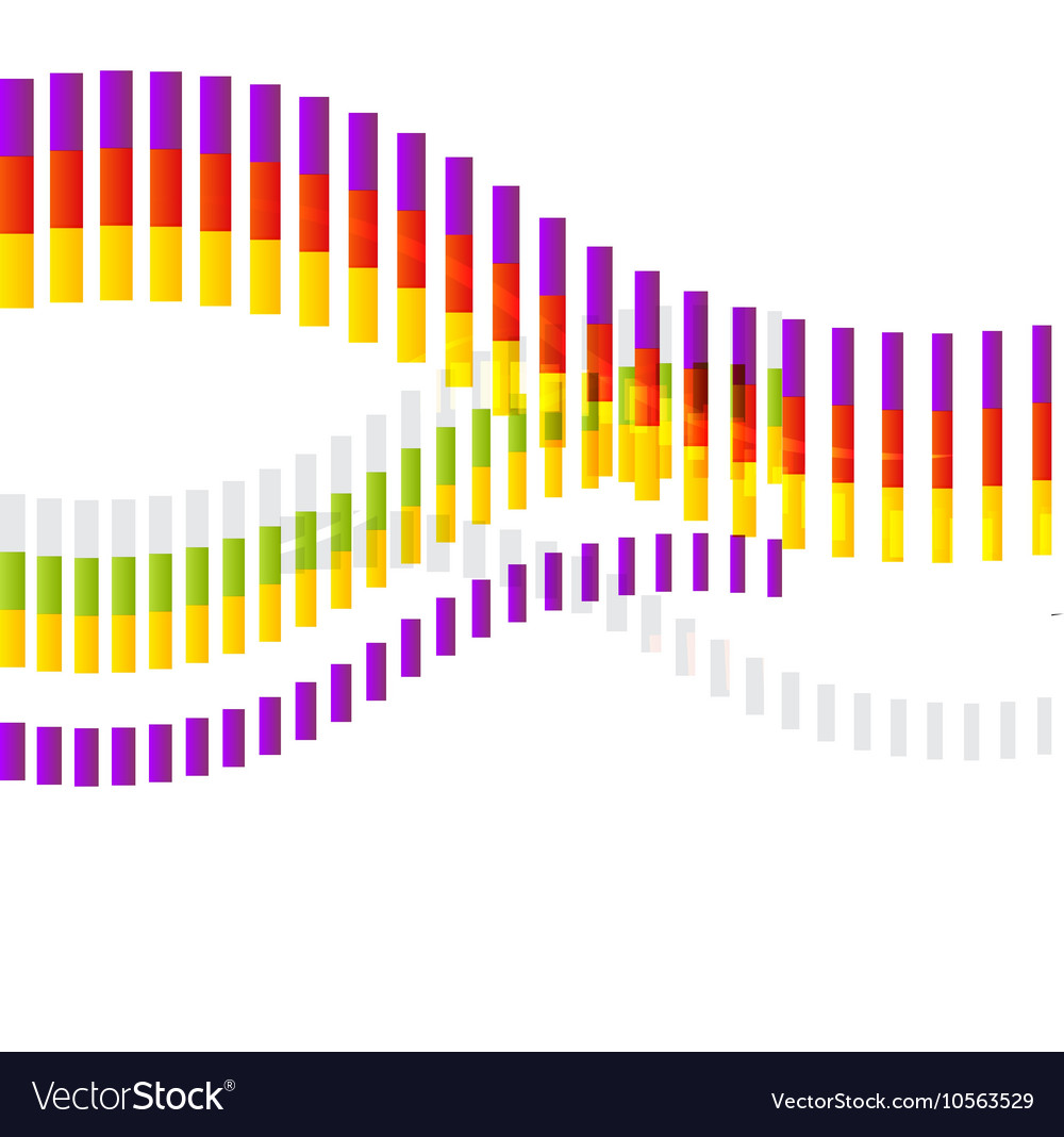 Abstract Shape Colorful Abstract Wave on White