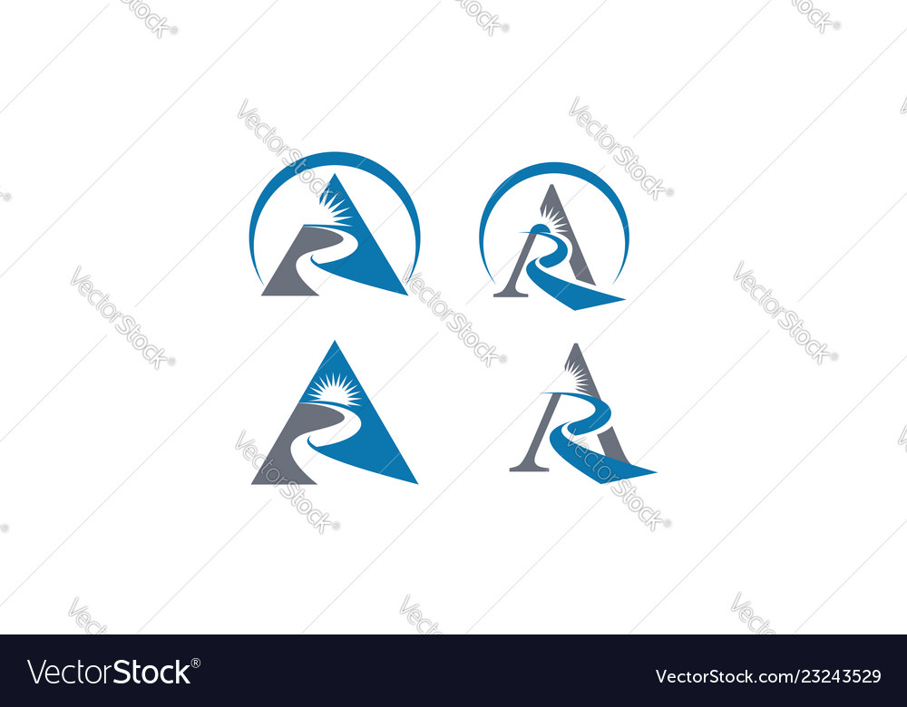 Abstract triangle success logo icon