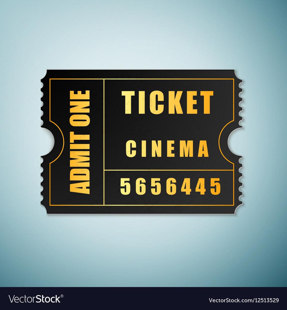 Cinema ticket icon isolated on blue background