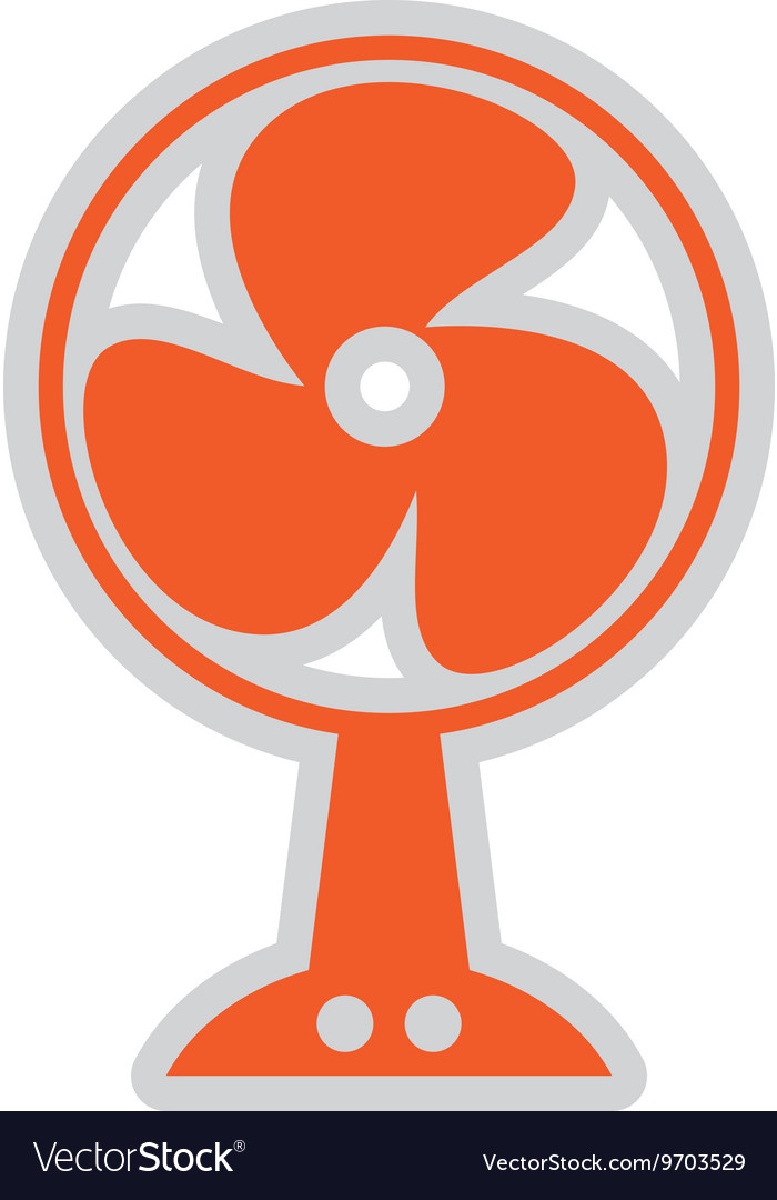 Electric fan isolated icon design