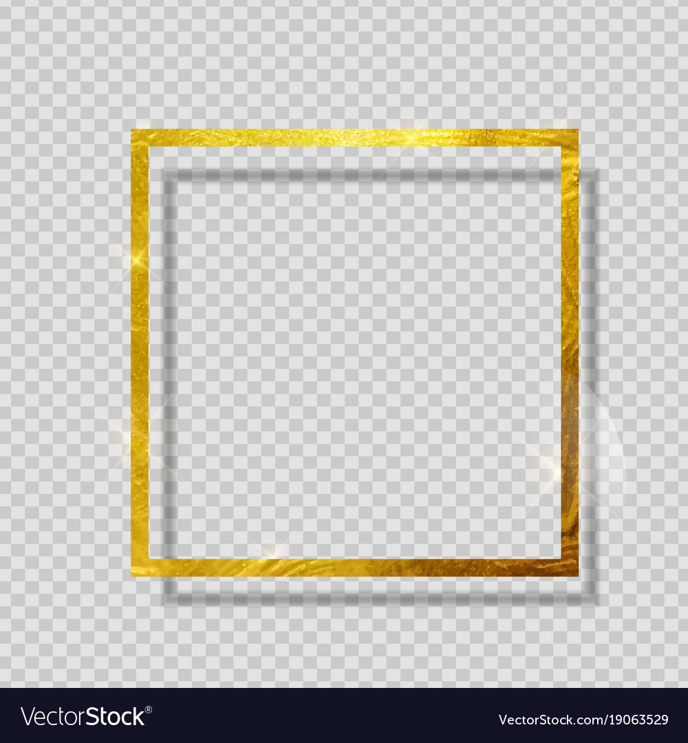 Gold paint glittering textured frame