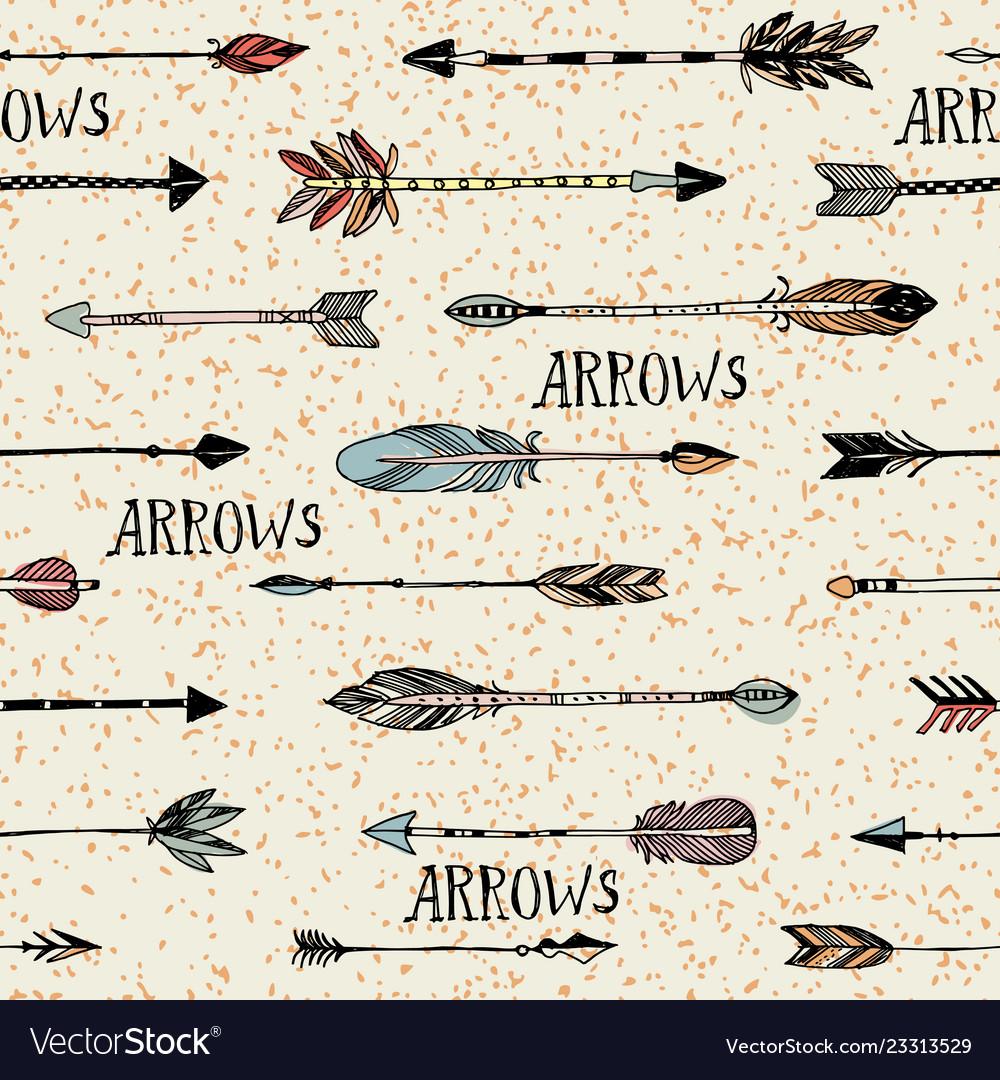 Hand drawn arrows patten