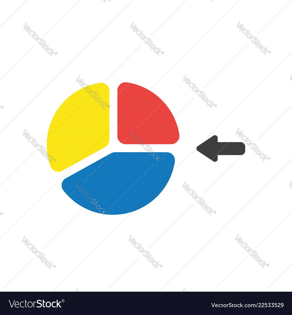 Icon concept of three parts diagram