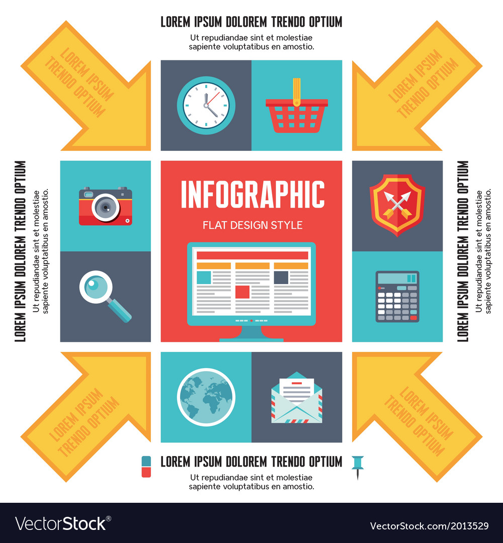 Infographic Concept for Presentation vector image