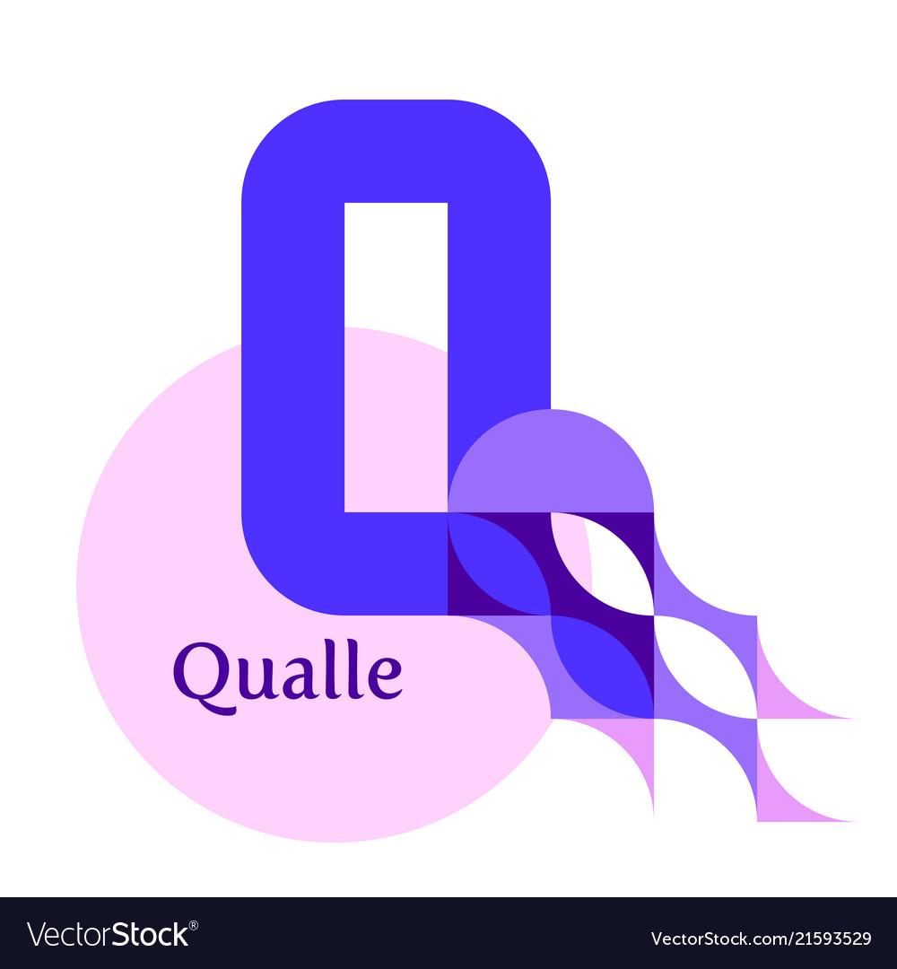Letter q - jellyfish qualle