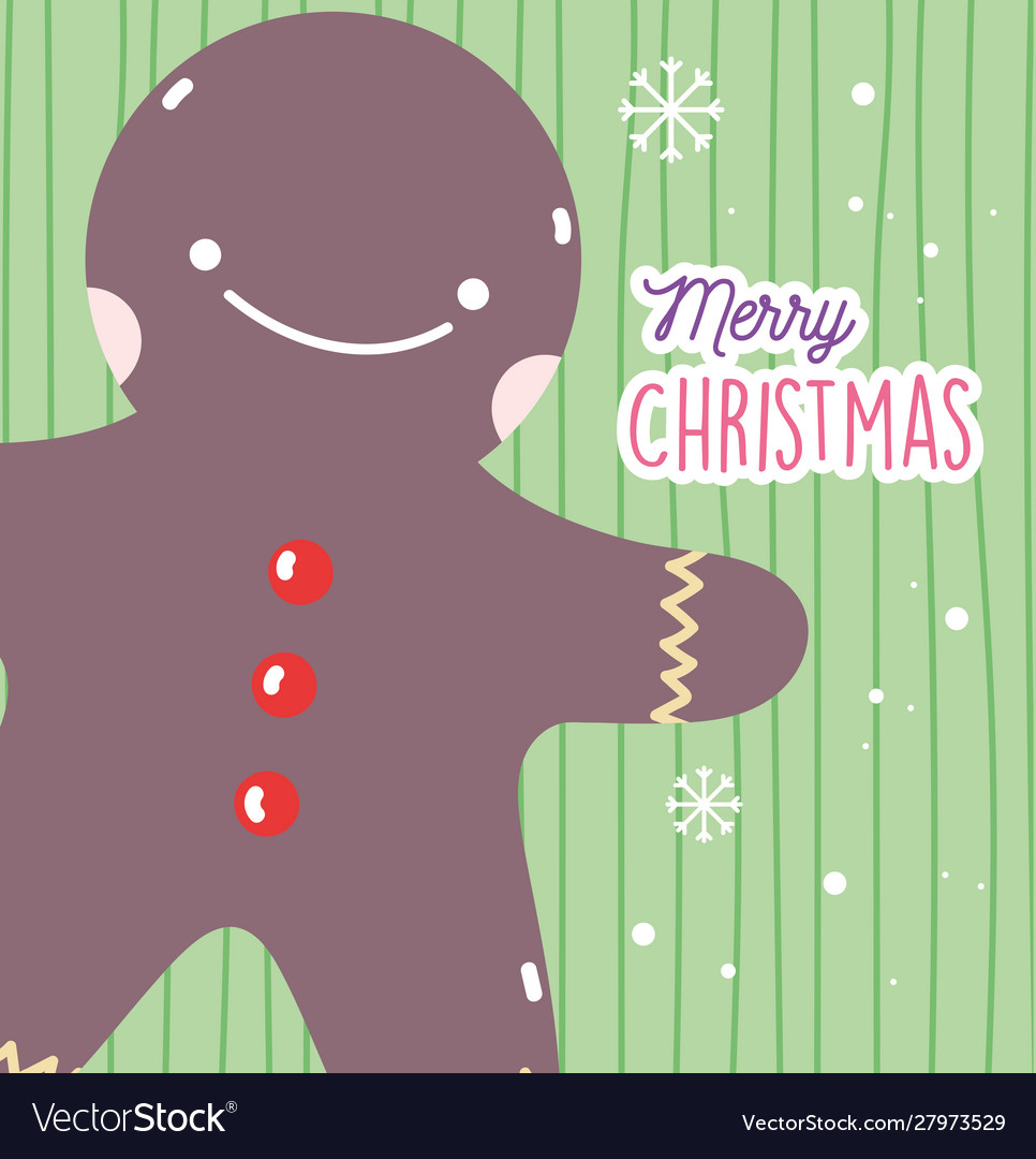 Merry christmas celebration gingerbread man