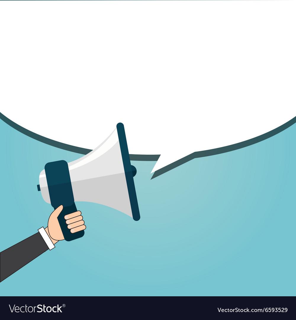 Speaking businessman vector image