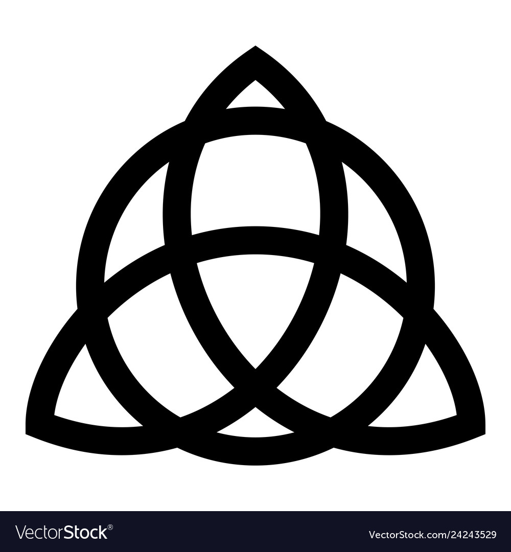Trikvetr Knot With Circle Power Of Three Viking Vector Image