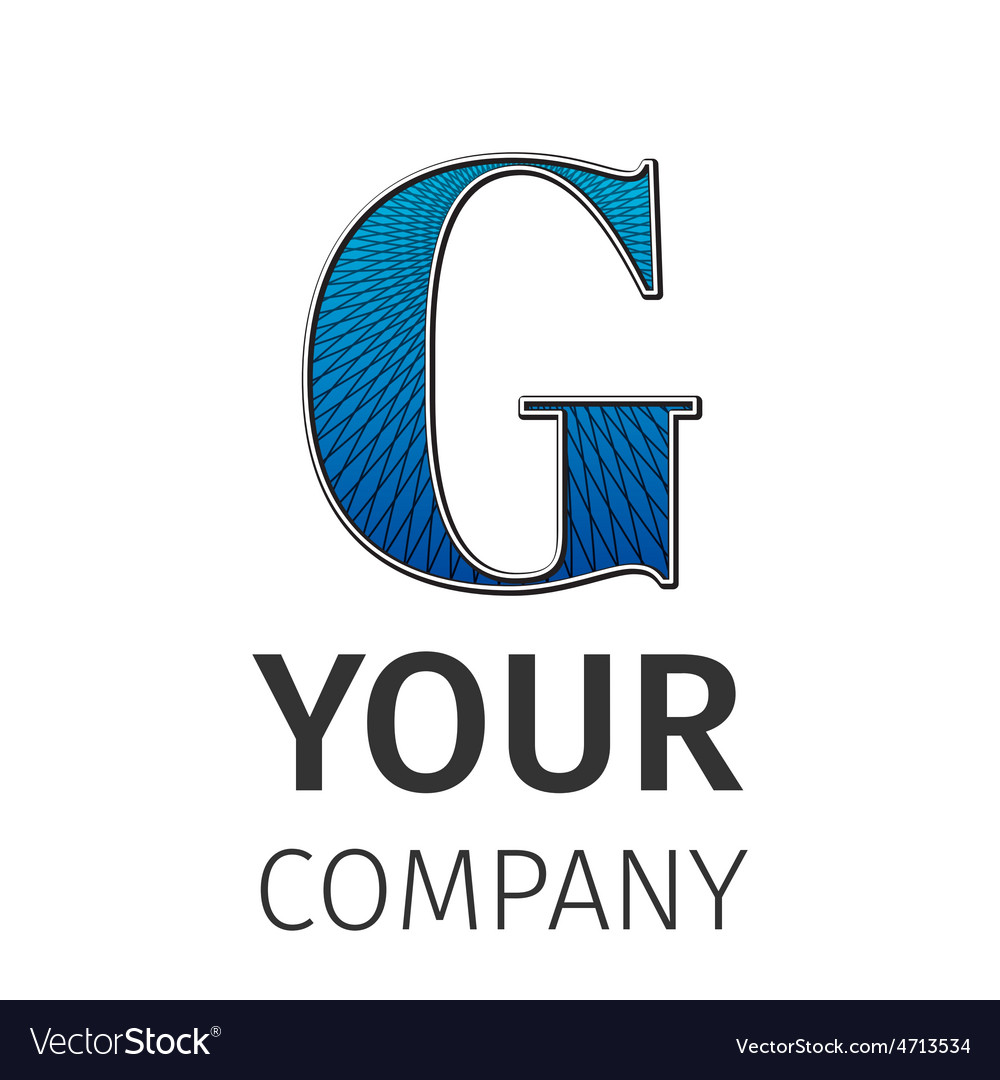 Abstract guilloche Logo letter-G vector image