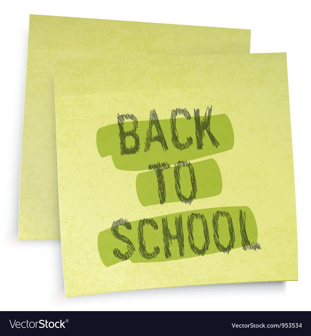 Back to school reminder vector image