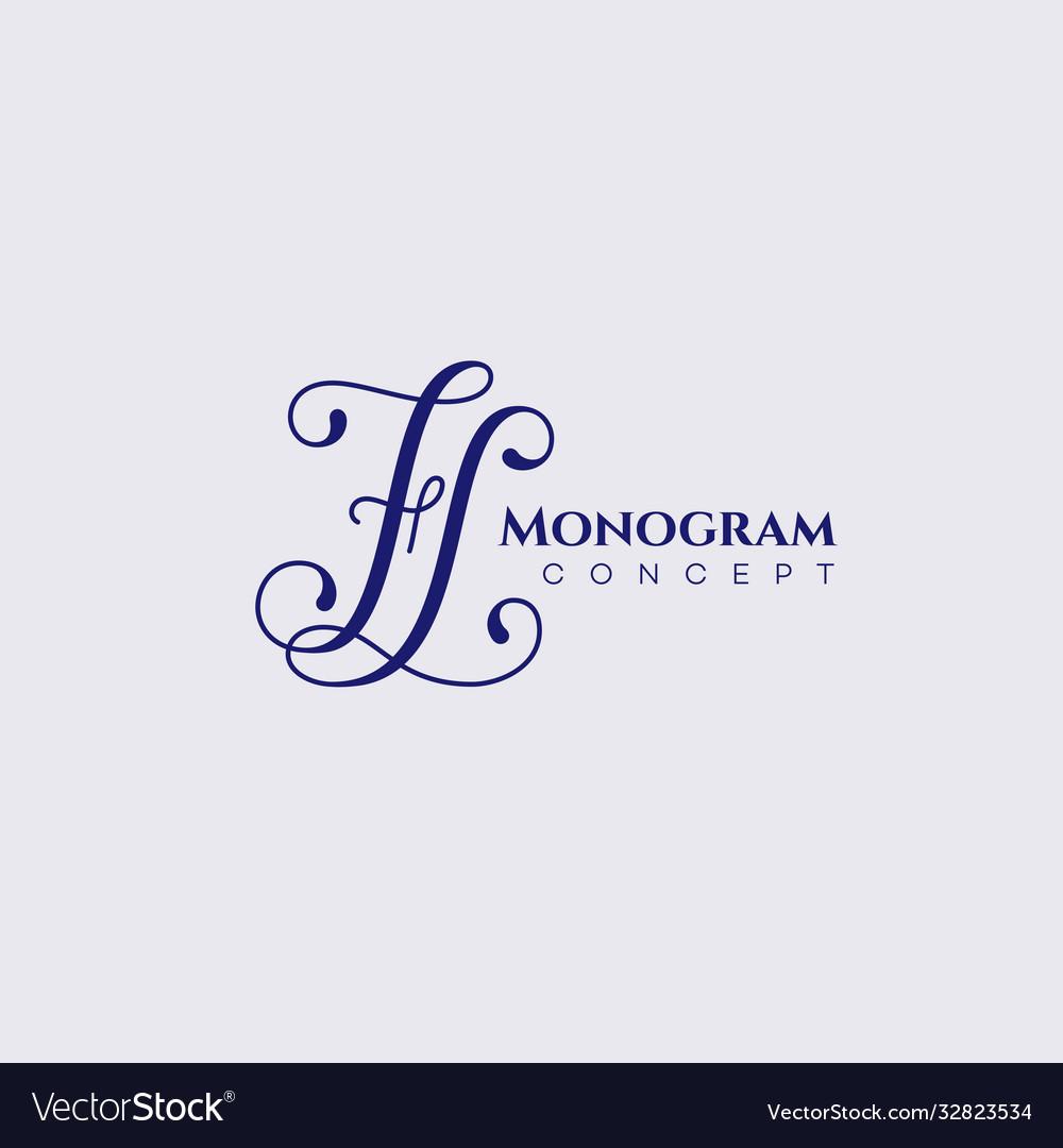 Calligraphic monogram fl