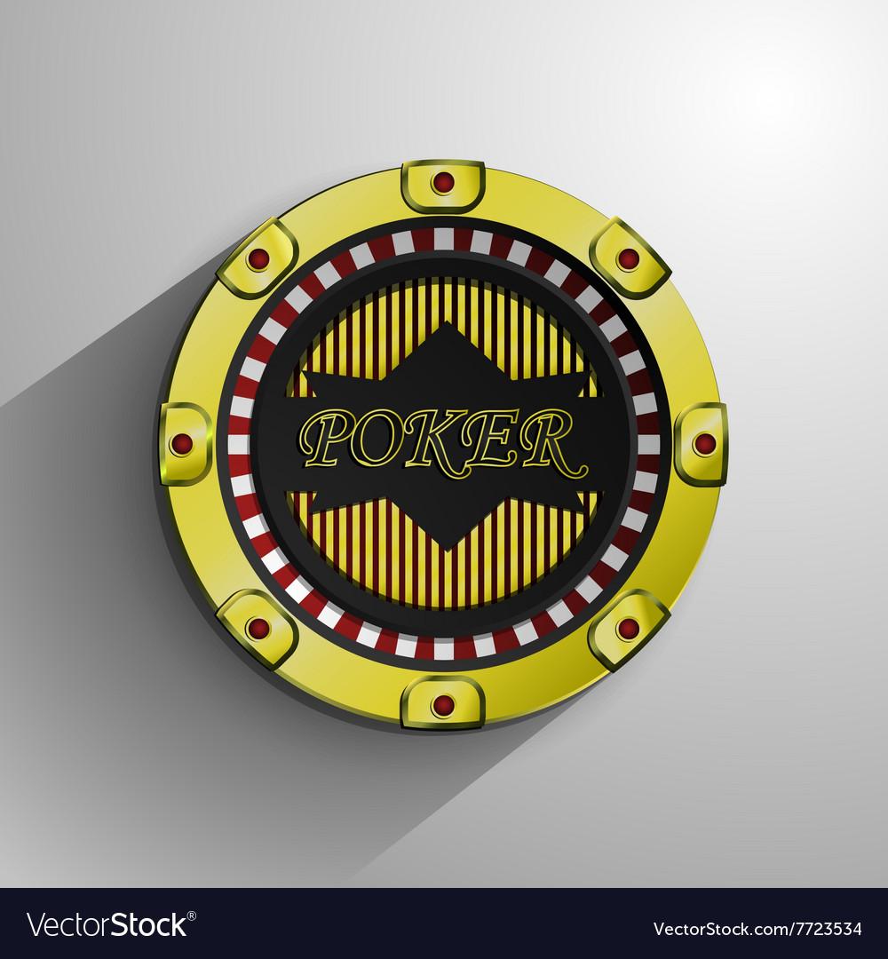 Casino decorative golden coin