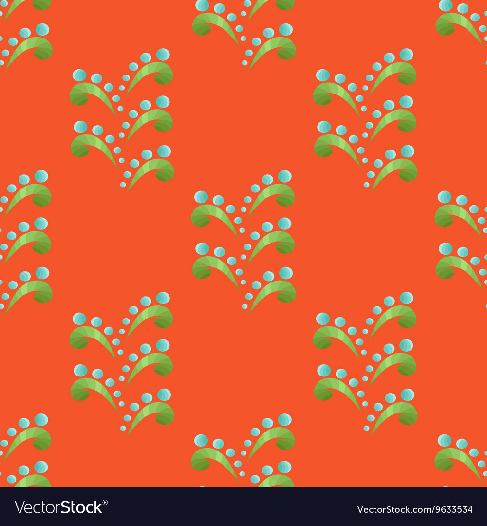 Colored Seamless Floral Pattern in Ethnic Style
